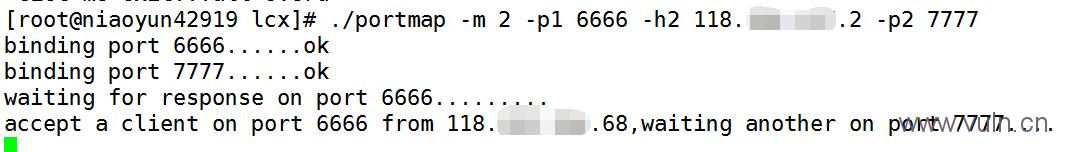 linux下内网端口转发工具:linux版lcx 使用方法